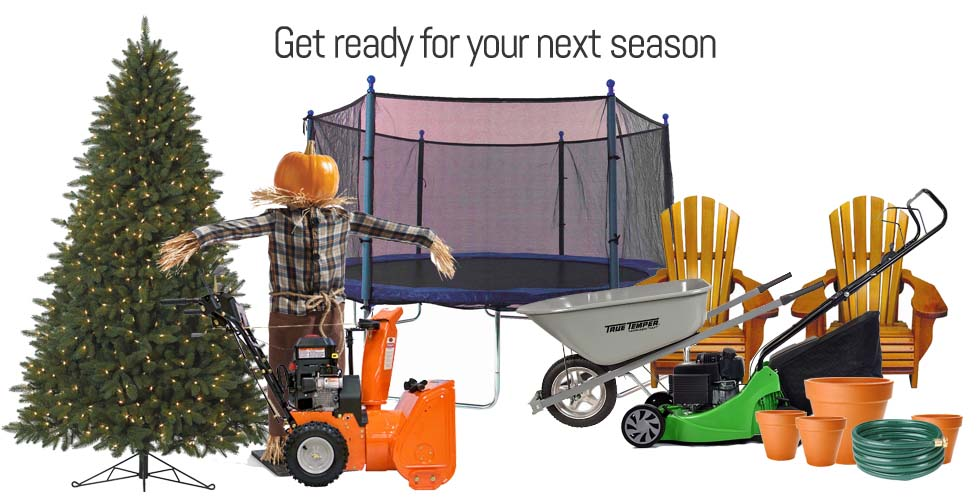 Get ready for your next season with Storage Solutions self storage