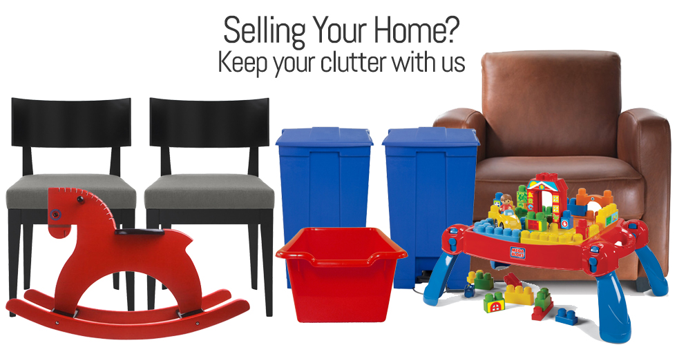 Household items that you can store in a self-storage unit to help you sell your home