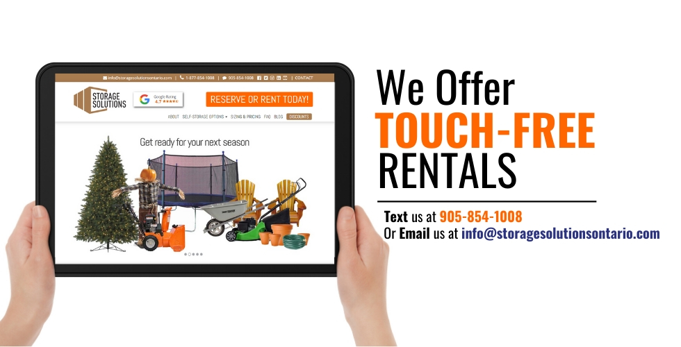 Get Touch-Free Self-Storage Rentals at Storage Solutions Self-Storage Facility in Milton and Woodstock